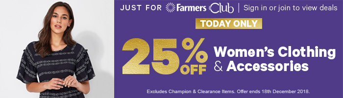 25% off Women's Clothing & Accessories - TODAY ONLY!