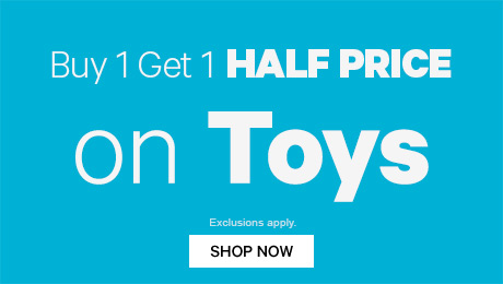 Buy 1, Get 1 Half Price On Toys