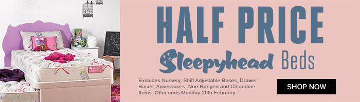 One Day Sale! Half Price Sleepyhead Beds