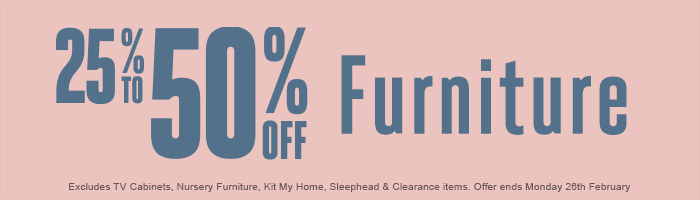 One Day Sale! 25-50% Off Furniture