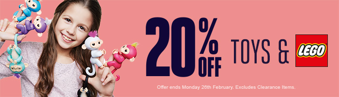 20% Off Toys | 20% Off Lego - Must end 26th February