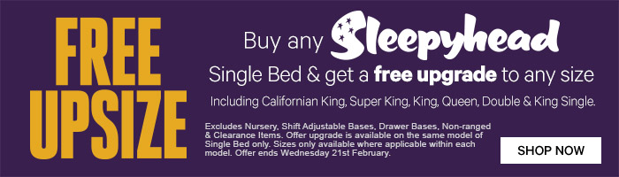 Free Upsize Sleepyhead Bed Resting Offer | Must End 21st February