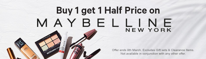Buy 1 Get 1 Half Price on Maybelline