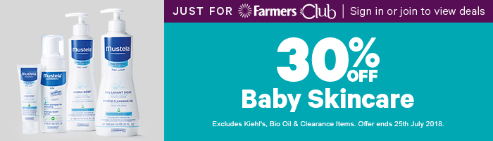 30% Off Baby Skincare - Must end 25th July