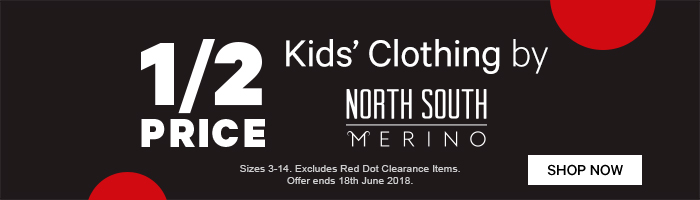 1/2 Price Kids' Clothing by North South Merino