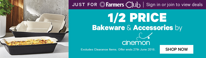 Just for Farmers Club 1/2 Price Bakeware & Accessories by Cinemon