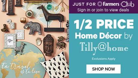 Just for Farmers Club 1/2 Price Home Decor by Tilly@home