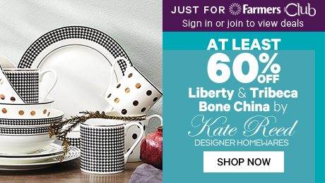 Just for Farmers Club At Least 60% off Liberty & Tribeca Bone China by Kate Reed