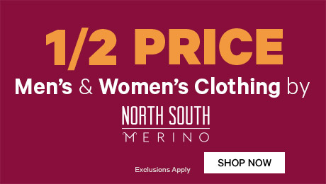 1/2 Price Men's & Women's Clothing by North South