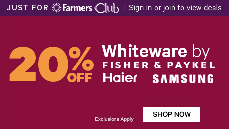 20% off Whiteware by Fisher & Paykel, Haier & Samsung