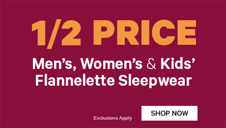 1/2 Price Women's Flannelette Sleepwear