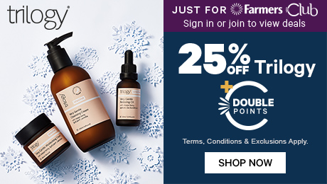 25% off trilogy plus double points