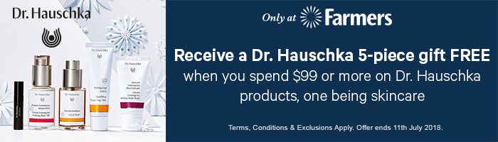 receive a dr hauschka 5-piece gift free when you spend $99 or more on dr hauschka products, one being skincare