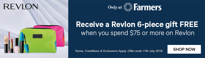 Receive a revlon 6-piece gift free when you spend $75 or more on revlon