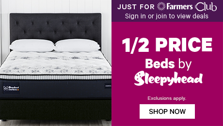 Just for Farmers Club 1/2 Price Beds by Sleepyhead