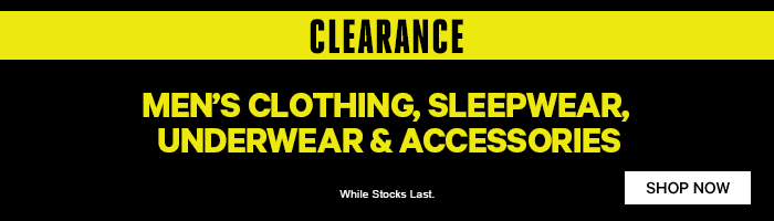 Men's Clearance on now