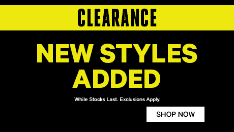 Clearance - New Styles Added
