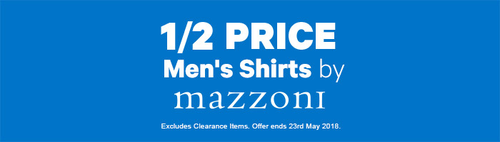 1/2 Price Men's Shirts by Mazzoni
