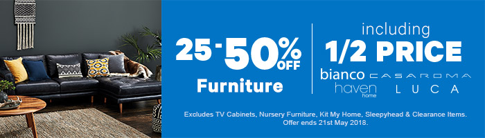 25-50% off Furniture | Shop Now