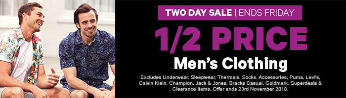 1/2 Price Men's Clothing