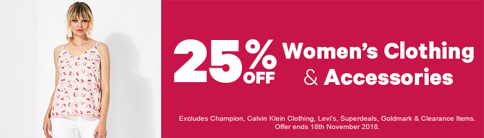 25% off Women's Clothing & Accessories