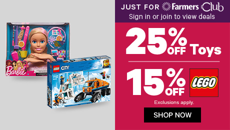 Just For Farmers Club 25% off Toys