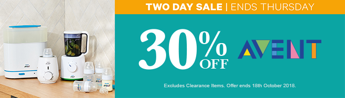 30% Off Avent - Must end 18th October!