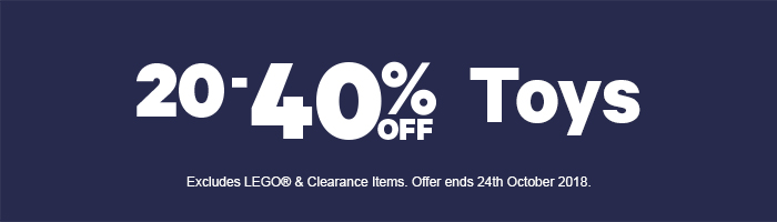 20-40% Off Toys and 20% Off LEGO - Must end 24th October
