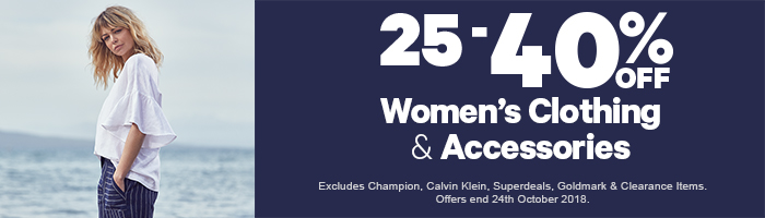 25-40% off Women's Clothing & Accessories