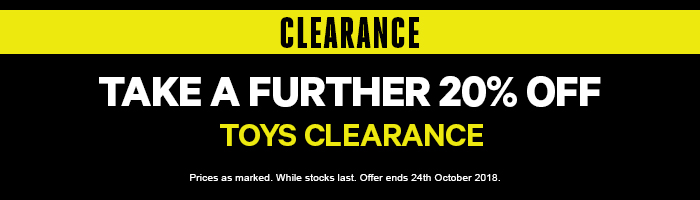 Take a Further 20% off Clearance Toys
