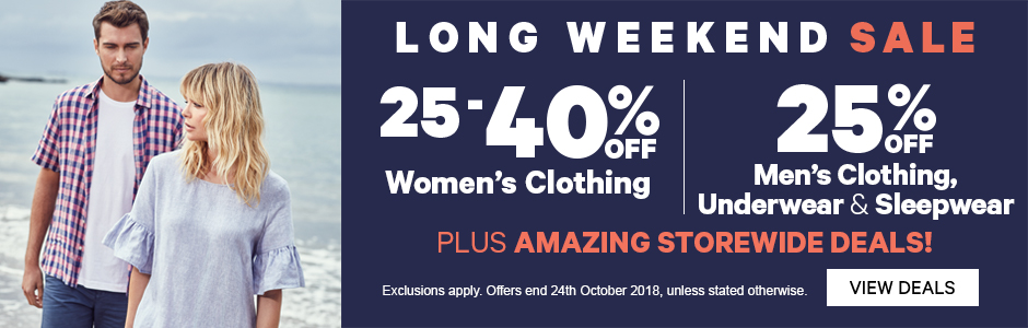 Labour Weekends Sale On Now!