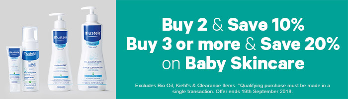Buy 2 & Save 10% Buy 3 or more & Save 20% on Baby Skincare - Must end 19th September!
