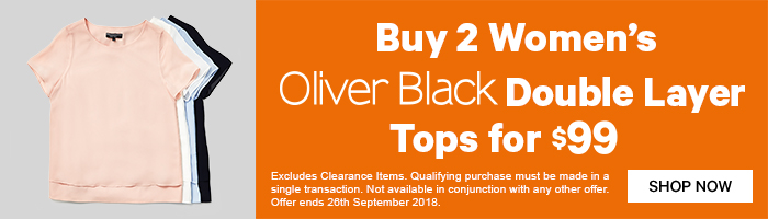 Buy 2 Women's Oliver Black Double Layer Tops for $99