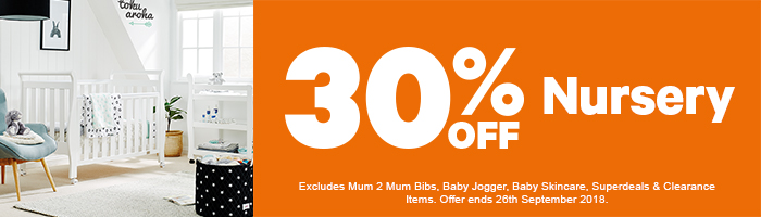 30% OFF Nursery - Must end 26th September!