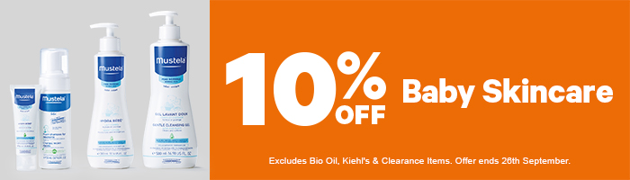 10% Off Baby Skincare - Must end 26th September!
