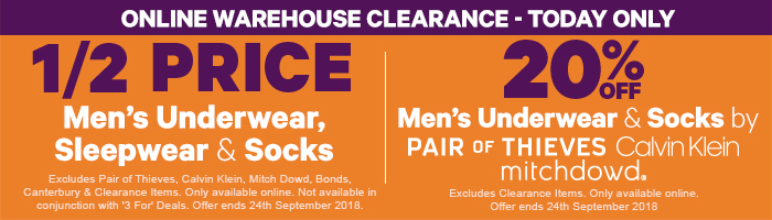 Great offers on Men's Underwear, Sleepwear & Socks!