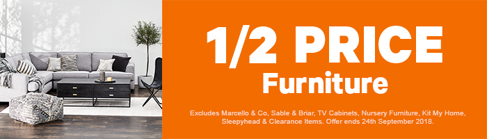 1/2 Price Furniture on now