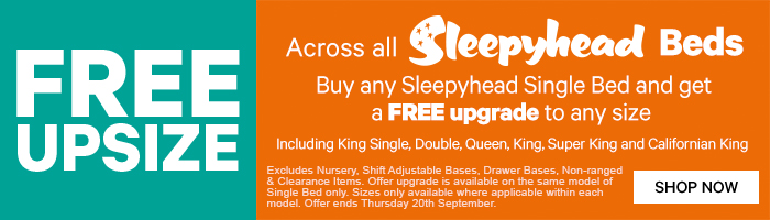Free Upsize across ALL Sleepyhead Beds