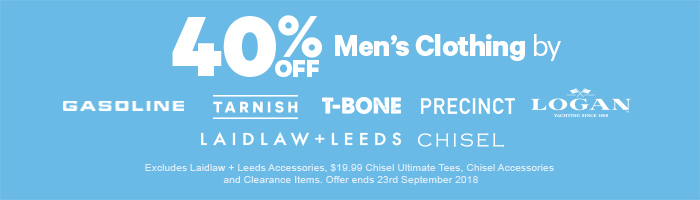 40% off Selected Men's Clothing