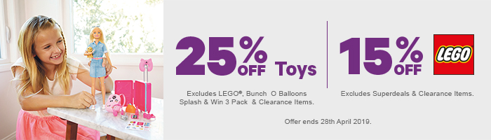 25% off Toys | 15% off Lego