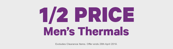 1/2 Price Men's Thermals