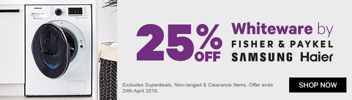 25% off Whiteware by F&P, Samsung & Haier