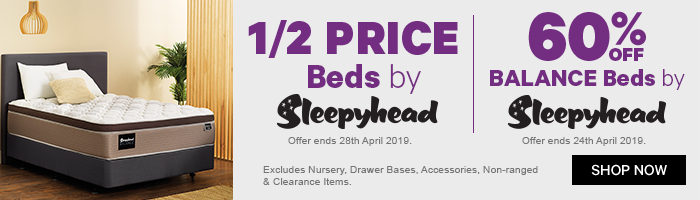 1/2 Price Beds by Sleepyhead | 60% off Balance Beds by Sleepyhead