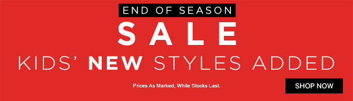 Sale - New Kids' Styles Added