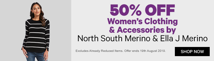 50% off Women's Clothing & Accessories by North South Merino & Ella J