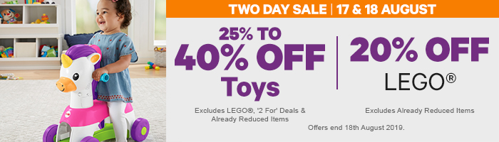 25-40% off Toys & 20% off LEGO