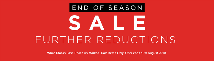 End of Season Sale - Further Reductions