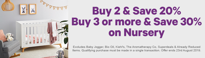 Buy 2 & Save 20% - Buy 3 or more & Save 30% on Nursery