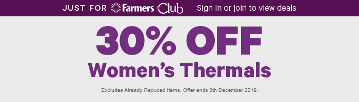 30% off Women's Thermals