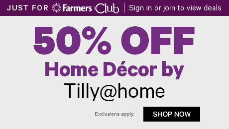 50% off Home Decor by Tilly@home